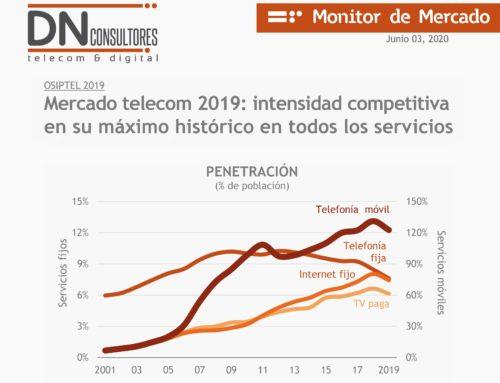 Mercado telecom 2019: intensidad competitiva en su máximo histórico en todos los serviciosMonitor de Mercado